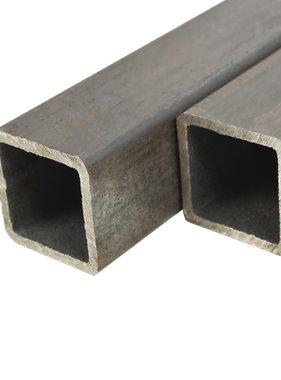 vidaXL Kokerbuizen vierkant 2m 60x60x2mm constructiestaal 2 st