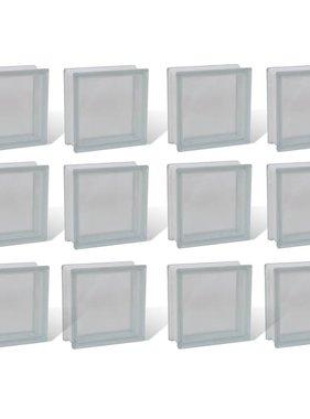 vidaXL Bouwblok glas transparant 12 stuks