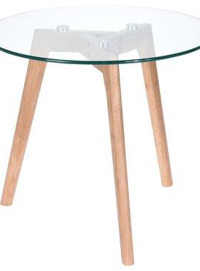 Home&Styling Home&Styling Bijzettafel 50x45 cm hout en glas