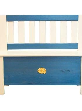 AXI Opbergbank voor kinderen Moby blauw en wit A031.041.00
