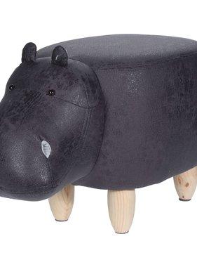 Home&Styling Home&Styling Kruk nijlpaard-vorm 64x35 cm