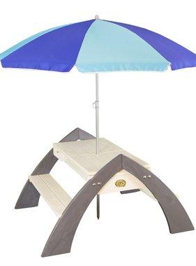 AXI Picknicktafel voor kinderen Delta grijs en wit A031.023.00