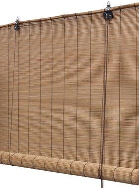 vidaXL Rolgordijn Bamboe 150 x 220 cm bruin