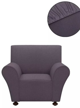 vidaXL Stretch meubelhoes voor fauteuil antraciet polyester jersey