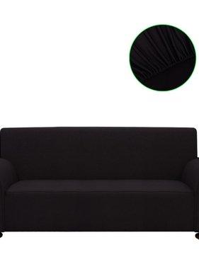 vidaXL Bankhoes stretch polyester jersey zwart
