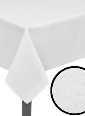 vidaXL Tafelkleden wit 5 stuks 130 x 130 cm