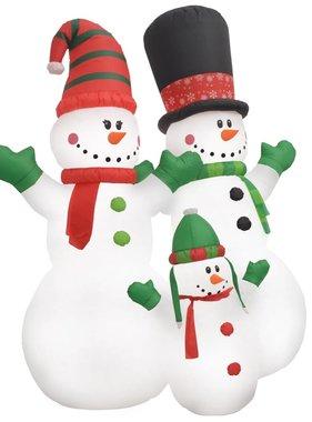 vidaXL Kerstsneeuwpoppen Santa Family opblaasbaar LED IP44 240 cm