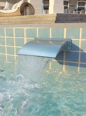 vidaXL Zwembadfontijn 30x9x26 cm roestvrij staal zilverkleurig