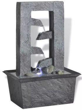vidaXL Binnenfontein met LED-licht polyresin