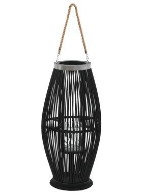 vidaXL Lantaarnhouder hangend 60 cm bamboe zwart