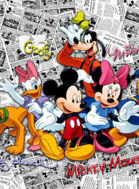 AG Design Fotobehang Mickey on Dark Comics FTD2225