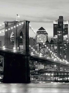 AG Design Brooklyn Bridge B&W Fotobehang 4D ()