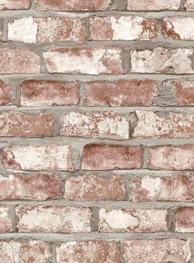 DUTCH WALLCOVERINGS Behang bakstenen rood EW3102