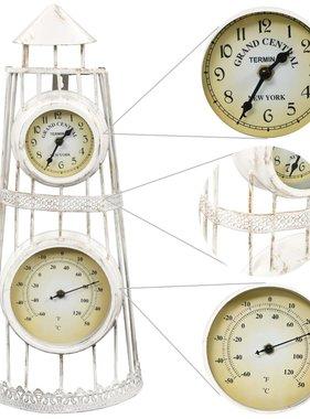 vidaXL Wandklok met thermometer vintage stijl
