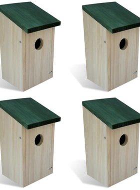 vidaXL Vogelhuisje hout set van 4
