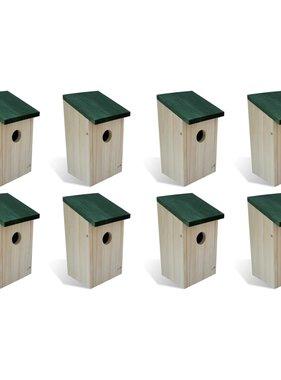 vidaXL Vogelhuisjes 8 st 14x15x22 cm hout