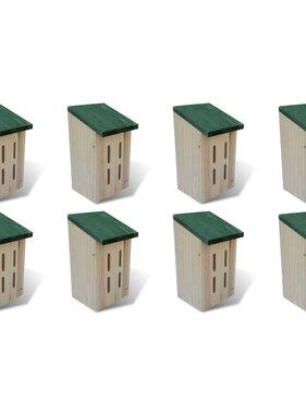 vidaXL Vlinderkasten 8 st 14x15x22 cm hout