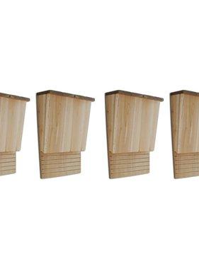 vidaXL Vleermuizenkasten 4 st 22x12x34 cm hout