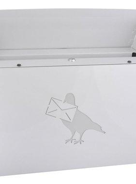 Esschert Design Afsluitbare brievenbus koolstofstaal wit PTT04