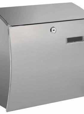 Toolland Brievenbus Rome zilver roestvrij staal BG54000