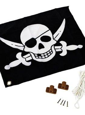AXI Piratenvlag zwart-wit 55x45 cm A507.012.00