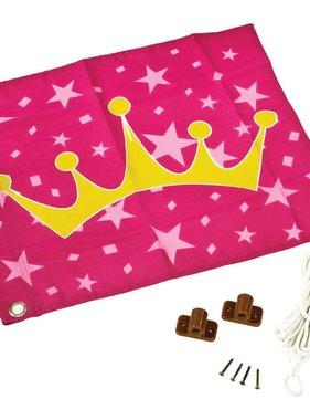 AXI Prinsessen kroon vlag roze en geel 55x45 cm A507.010.00