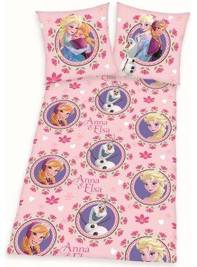 Disney Kinderdekbedovertrek Frozen bloemen 200x140 cm DEKB234117