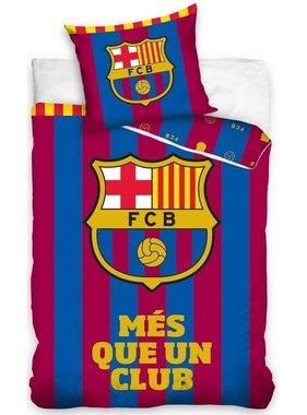 FC Barcelona Dekbedovertrek Més Que 140 x 200 cm blauw/rood