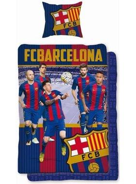 FC Barcelona Dekbedovertrek spelers 140 x 200 cm