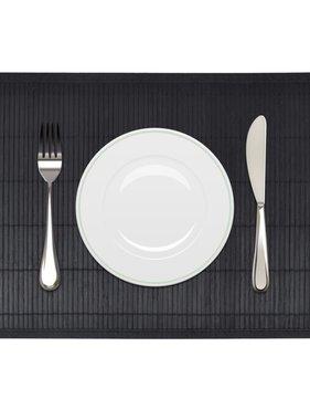 vidaXL 6 Placemats bamboe 30 x 45 cm zwart