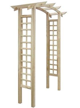 vidaXL Rozenboog latwerk 150x50x220 cm FSC hout