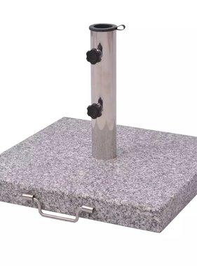 vidaXL Parasolvoet Graniet 30 kg vierkant