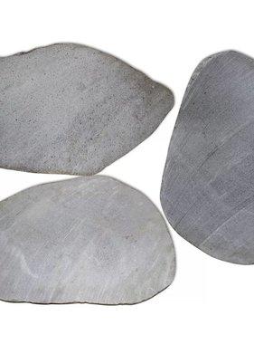 vidaXL Tuin Stapstenen 3 stuks Riviersteen