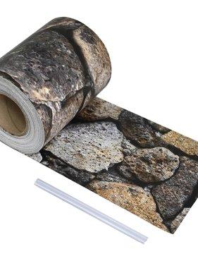vidaXL Schuttingstrook steenontwerp 70x0,19 m PVC