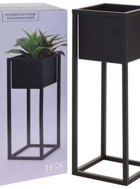 Home&Styling Home&Styling Bloempot op standaard 60 cm metaal zwart