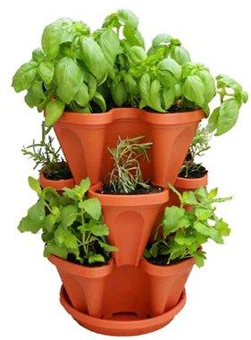 Brandless Stapelbare plantenbakken Flower Tower terracotta 3 st STP001