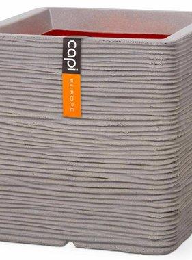 Capi Plantenbak Nature Rib vierkant 30x30 cm grijs PKGRR902