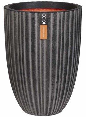Capi Bloempot Urban Tube elegant laag 46x58 cm antraciet