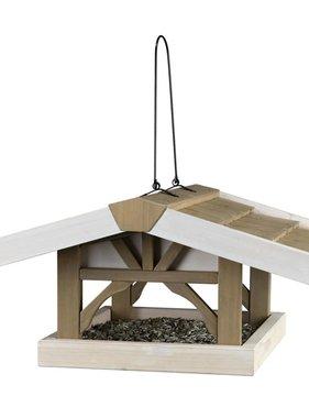 TRIXIE Vogelvoederhuisje hangend Natura 46x22x44 cm bruin en wit 55801