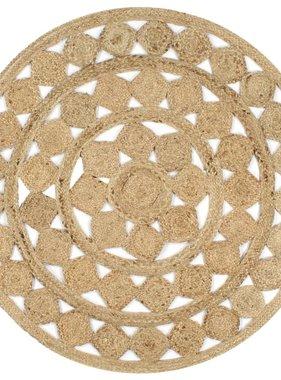 vidaXL Vloerkleed handgemaakt 120 cm gevlochten jute
