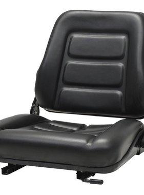 vidaXL Heftruck- en tractorstoel met verstelbare rugleuning zwart