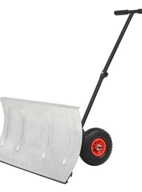 vidaXL Sneeuwploeg handbediend met wielen 100x44 cm