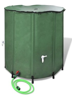 vidaXL Inklapbare Watertank 500L (Groen)