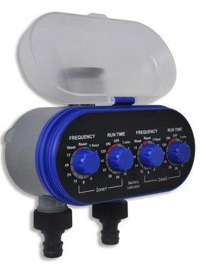 vidaXL Elektrische Irrigatie watertimer (2 uitgangen)