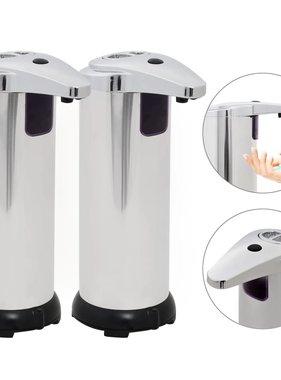 vidaXL Automatische zeepdispensers infraroodsensor 600 ml 2 st
