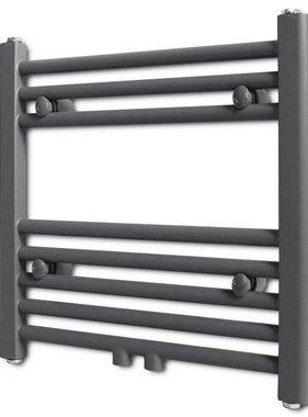vidaXL Radiator/handdoekenrek recht grijs 480x480 mm