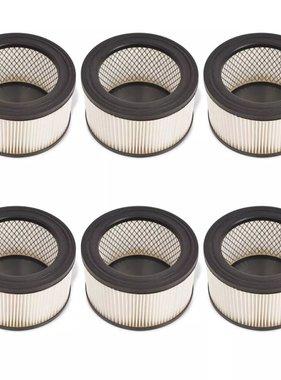 vidaXL HEPA filters voor asstofzuiger wit en zwart 6 st