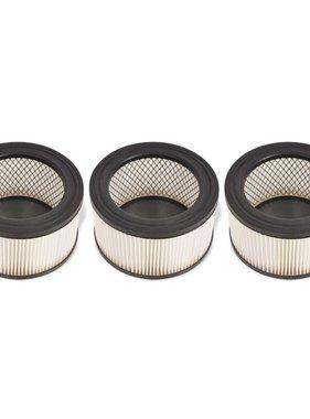 vidaXL HEPA-filters voor asstofzuiger wit en zwart 3 st