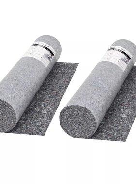 vidaXL Schildersvlies anti-slip 50 m 280 g/m² grijs 2 st