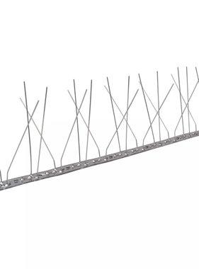 vidaXL Vogel- en duivenpinnen roestvrij staal 4 rijen set van 6